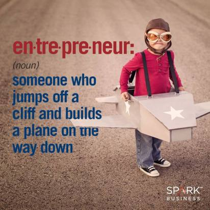 entrepreneur jumps off cliff