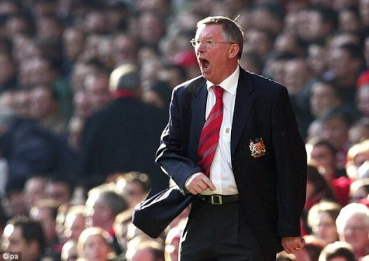 alex ferguson yelling