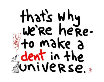 dent in the universe