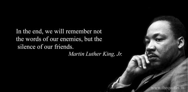 Martin Luther King Jr Silence Intolerance Quote