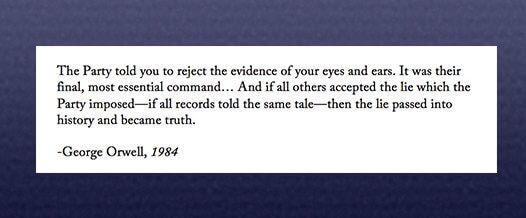 orwell on evidence