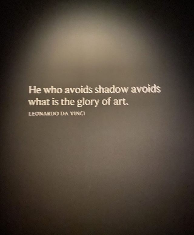 """He who avoids shadow avoids what is the glory of art"" ~ Leonardo Da Vinci"