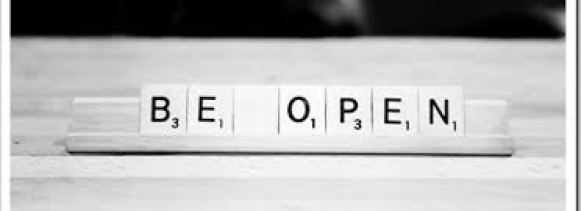 Key learning: be open