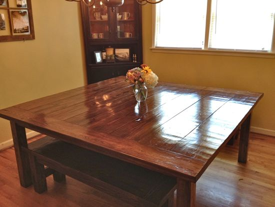 Massive 6x6 Farmhouse Table Finished Tommy Amp Ellie