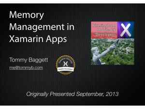 """""""Memory Management in Xamarin Apps"""" Series, Part One"""