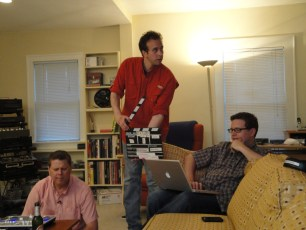 July 11, 2010 - Tommy Edison, Ben Churchill, and Tad Lemire filming a video