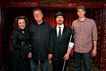 Nov. 11, 2013 - Misty Lee, Tommy Edison, Chad Allen, & Ben Churchill at the Magic Castle in Hollywood, CA (Photo by Kari Hendler)