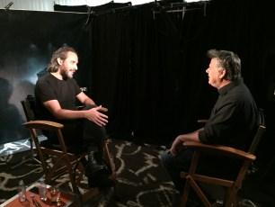 "Aug. 14, 2016 - Tommy Edison interviews director Fede Alvarez at the ""Don't Breathe"" press junket"