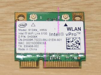 Intel WiFi Link 5100 512AN_HMW Intel vPro WLAN