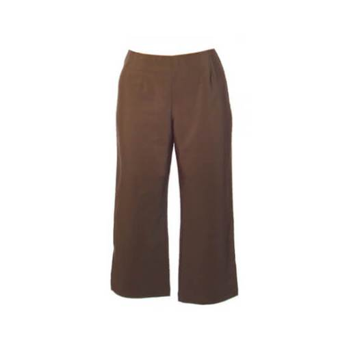 Plus Size Cropped Pants - Khaki