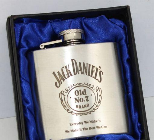 Jack Daniels 3oz Stainless Steel Hip Flask