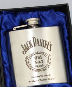Jack Daniels 3oz Stainless Steel Hip Flask