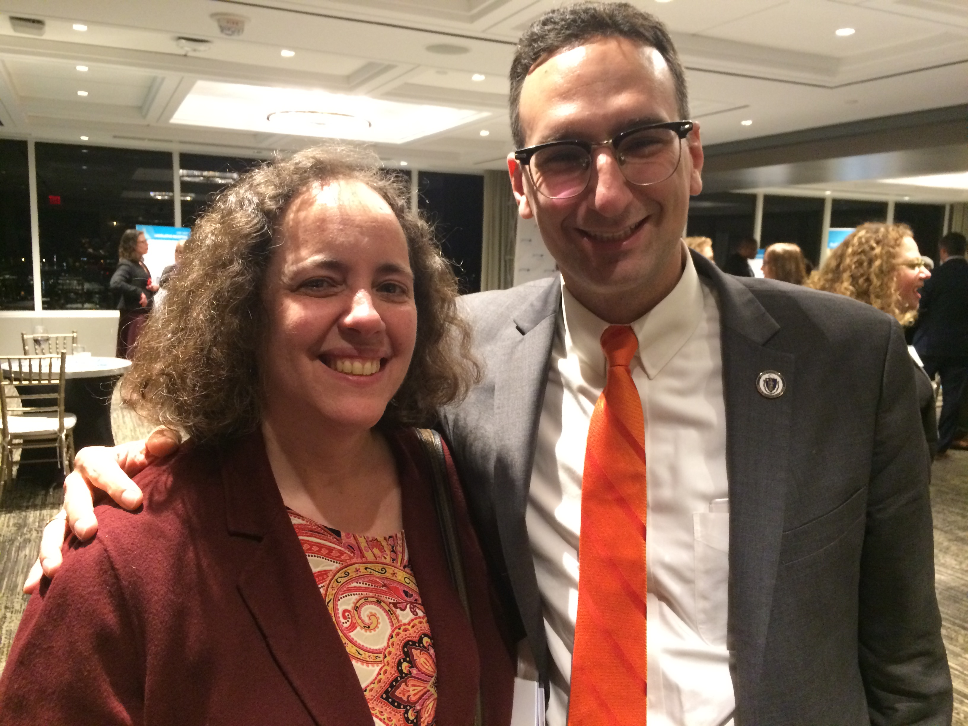 Tommy Vitolo and Cindy Rowe at a JCRC event