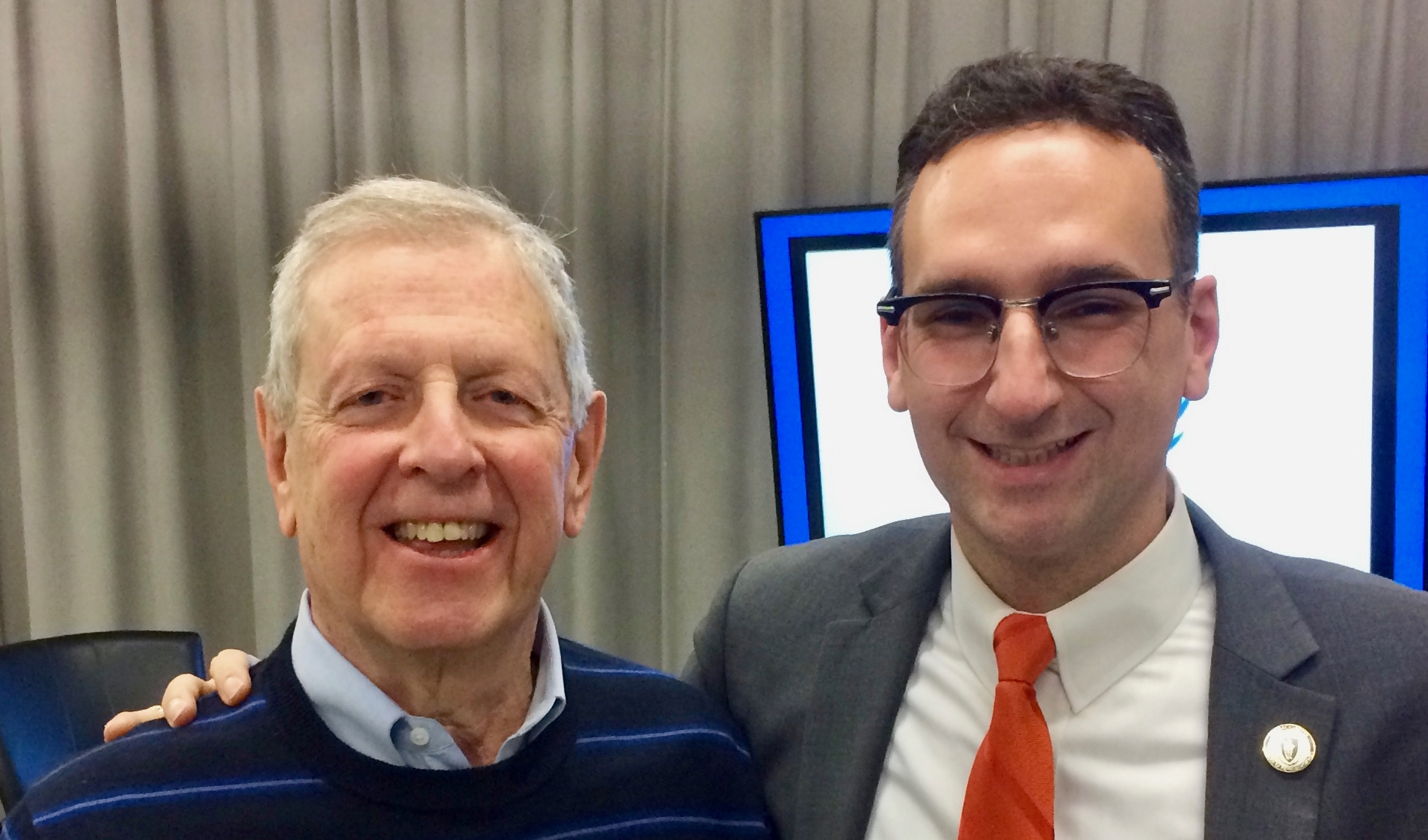 Tommy Vitolo and Matt Weiss at filming of Age Friendly Cities on BIG television