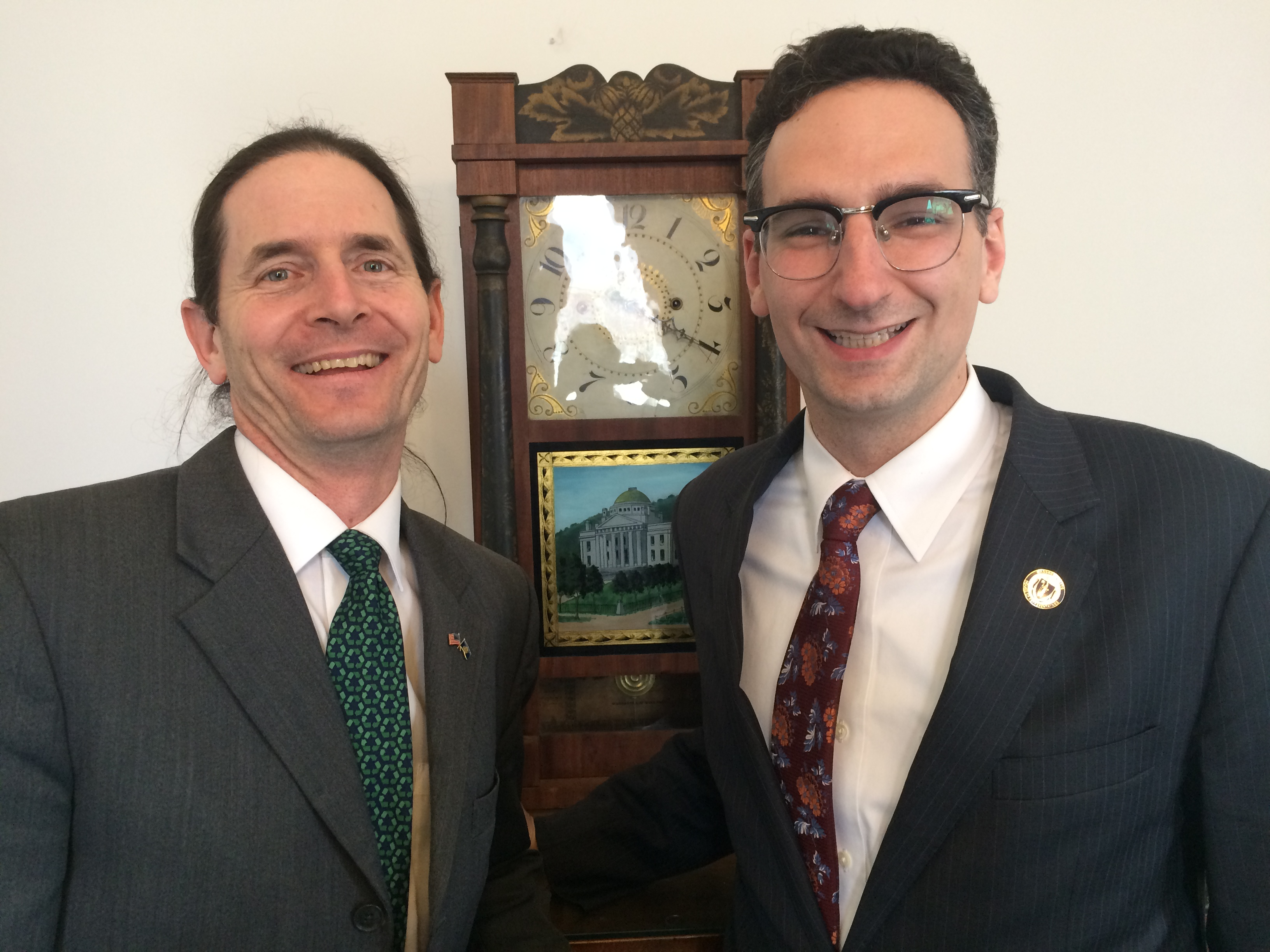 Tommy Vitolo with Lt Governor David Zuckerman