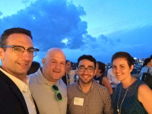 Tommy Vitolo Charlie Ticotsky Isaac Silberberg and Stacy Thompson at an ABL networking event