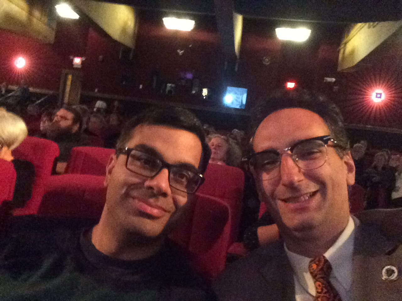 Tommy Vitolo and Devanshu Mehta at the Coolidge Corner Theatre 30th Anniversary party