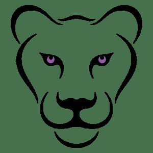 Lion Black Purple Square 1000px