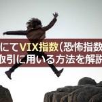XMにてVIX指数(恐怖指数)を取引に用いる方法を解説