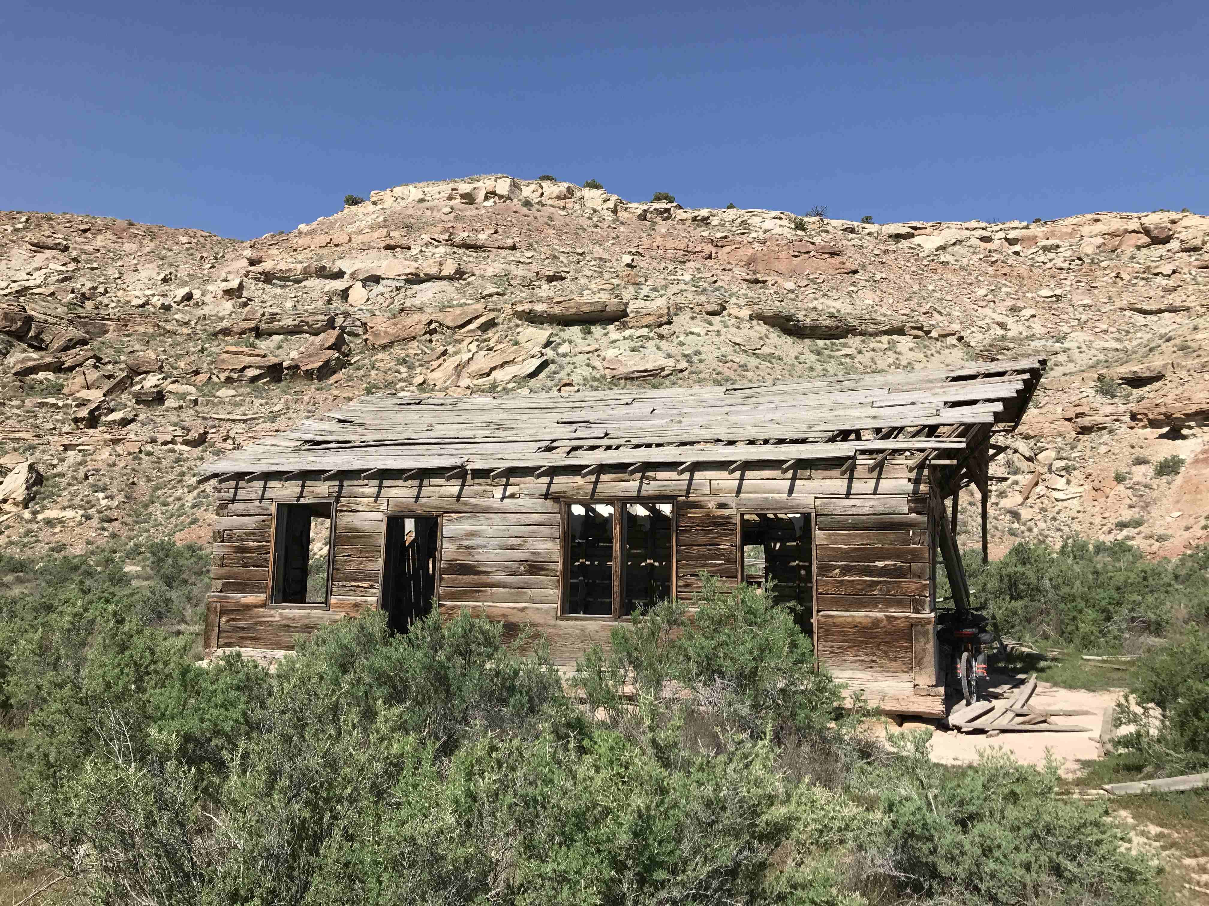 miner's cabin by Westwater Ranger Station