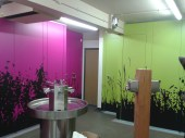 Vinyl applied to cubicles