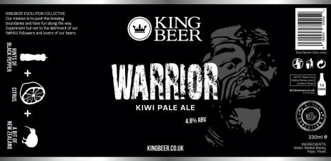 KingBeer Warrior label