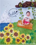 赤ちゃんがアートの中でかわいく変身♪ おひるねアート撮影
