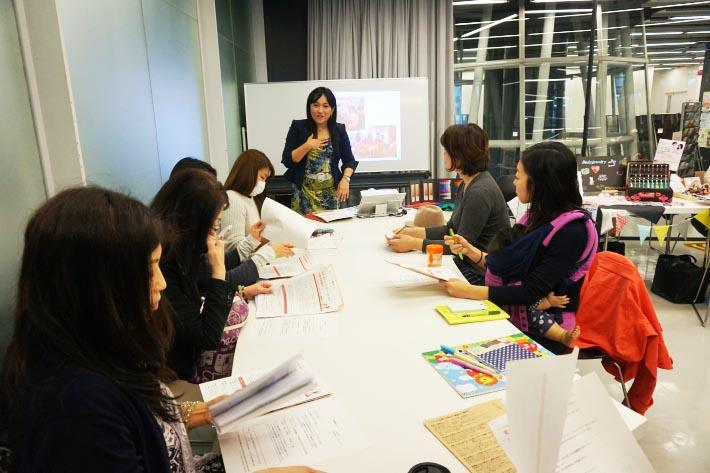 仙台ママフェスの出展者向けに行われたセミナーで講師を担当