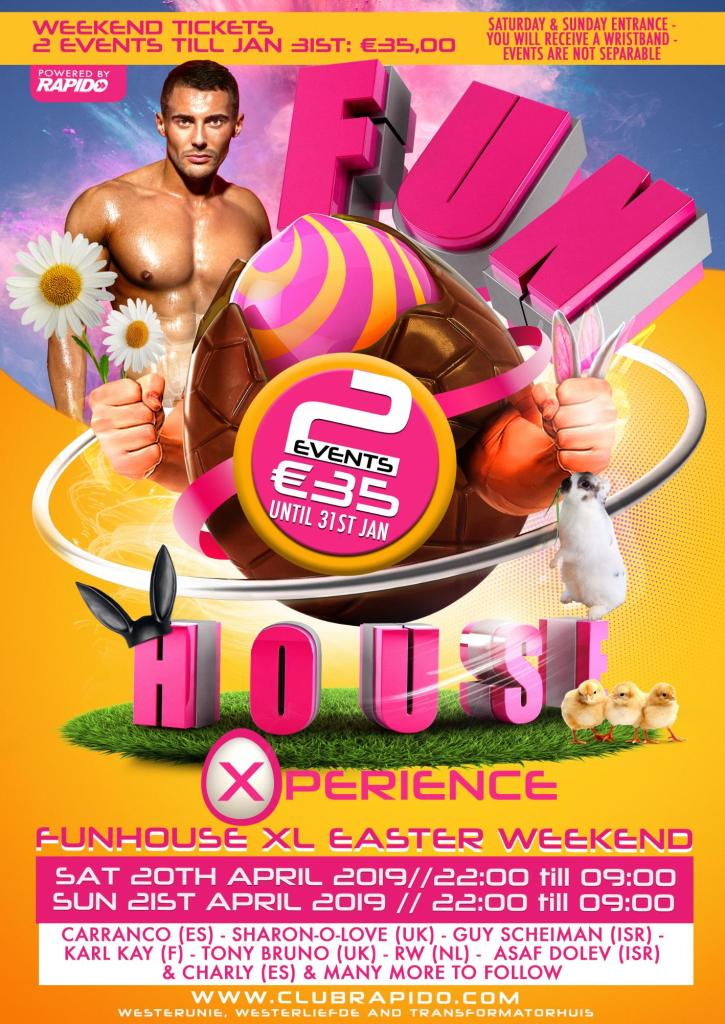 FunHouse Xperience Easter Weekend Gay Circuit Party Amsterdam