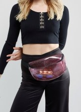 sac banane transparent paillettes asos