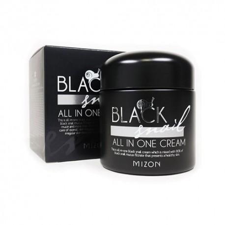 Black Snail All In One Cream mizon Cremas coreanas para blanquear la piel