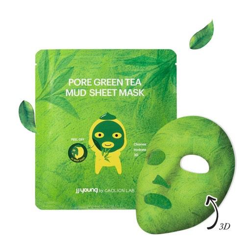 Pore Green Tea Mud Sheet Mask (Caolion) Mejores mascarillas coreanas