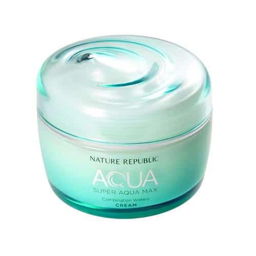 Super aqua max combination watery cream Nature Republic mejores cremas hidratantes coreanas