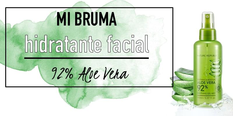 bruma hidratante facial nature republic aloe vera mist