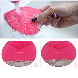 Sunmay Leaf limpiadores faciales eléctricos de silicona