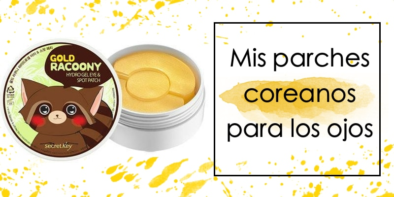 parches coreanos de hidrogel para los ojos gold racoony hydro gel eye spot patch secret key