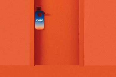 JOMO door hanger