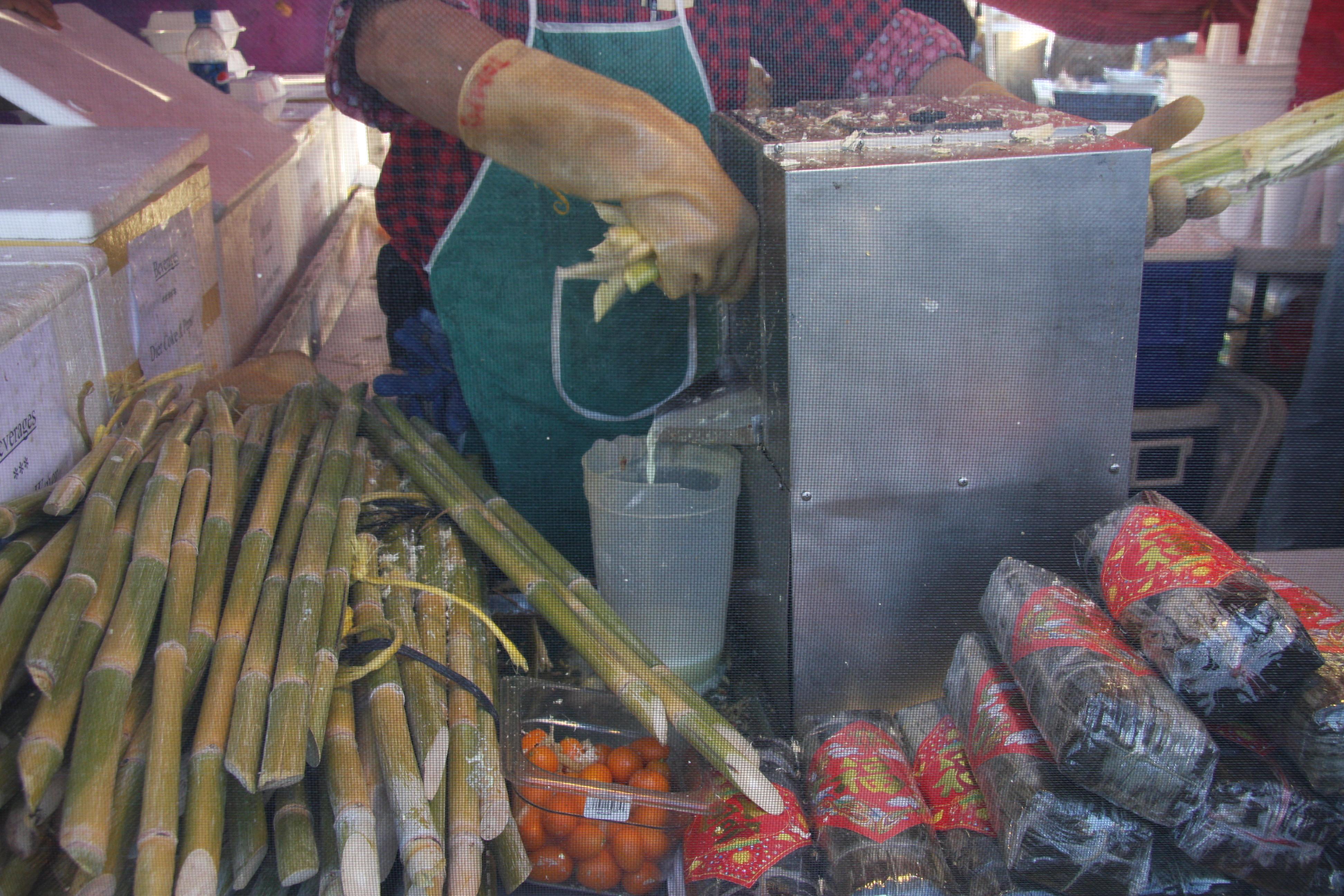 sugar cane juice with kumquat
