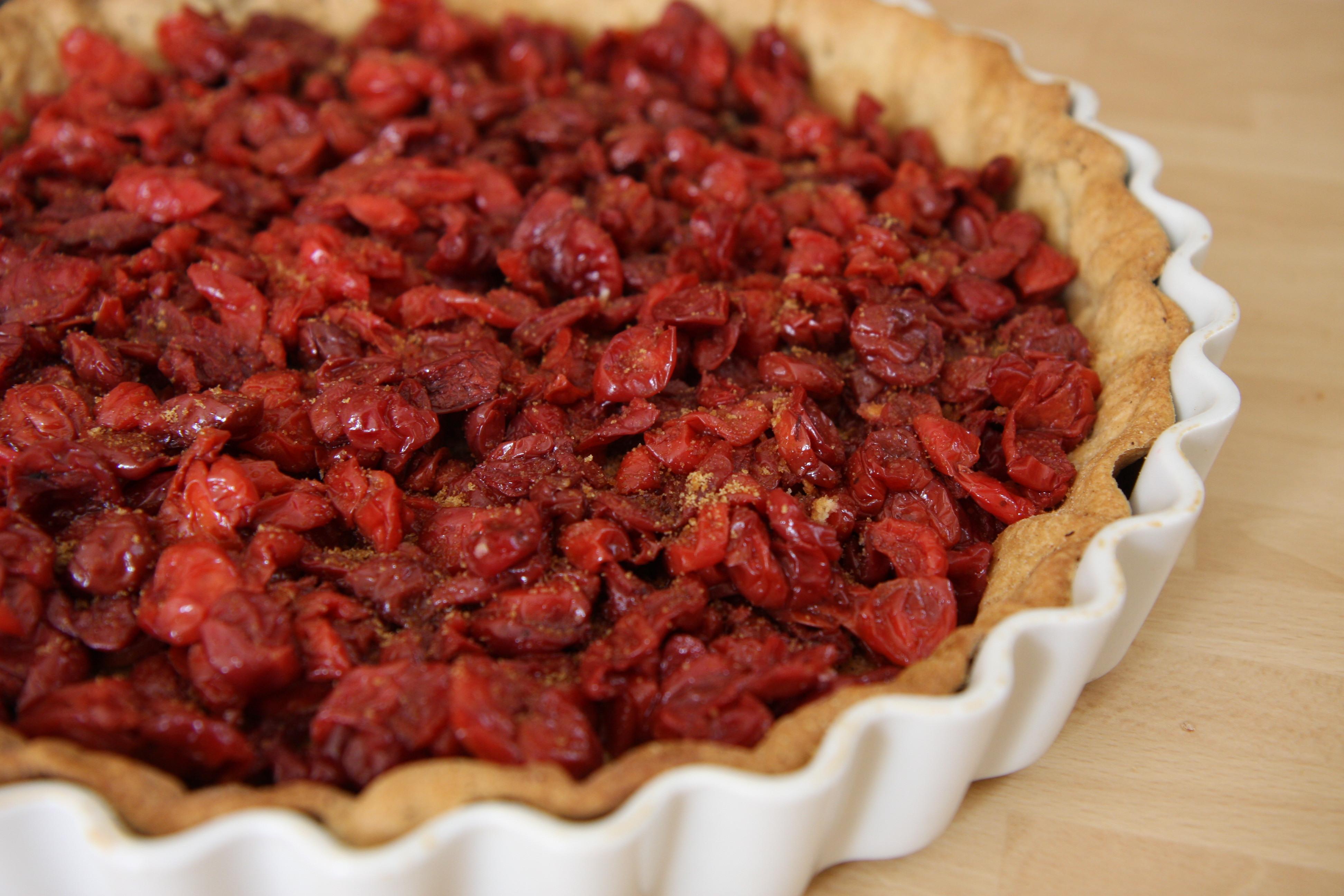 Dried cherry tart