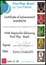 Foul Play : Brazil Certificate
