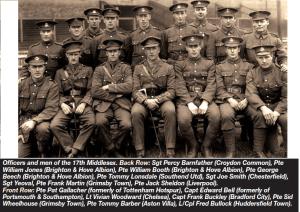 footballers batallion 1917 coloursport