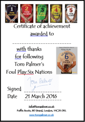 6 nations certificate