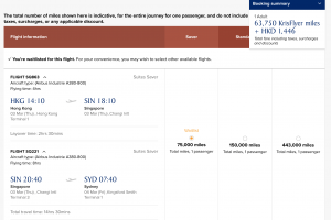 Hong Kong - Singapore - Sydney in First Suites with Singapore Airlines. Notice the discount for booking online. (15%)
