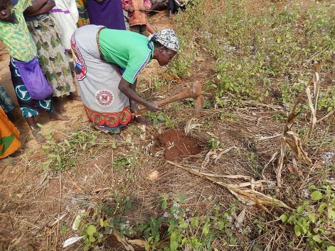 Ana Maria Digging Planting Spot