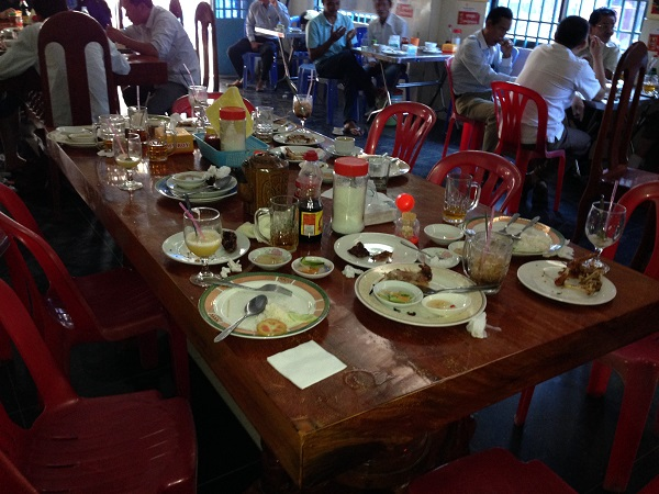Breakfast Table After the Feast