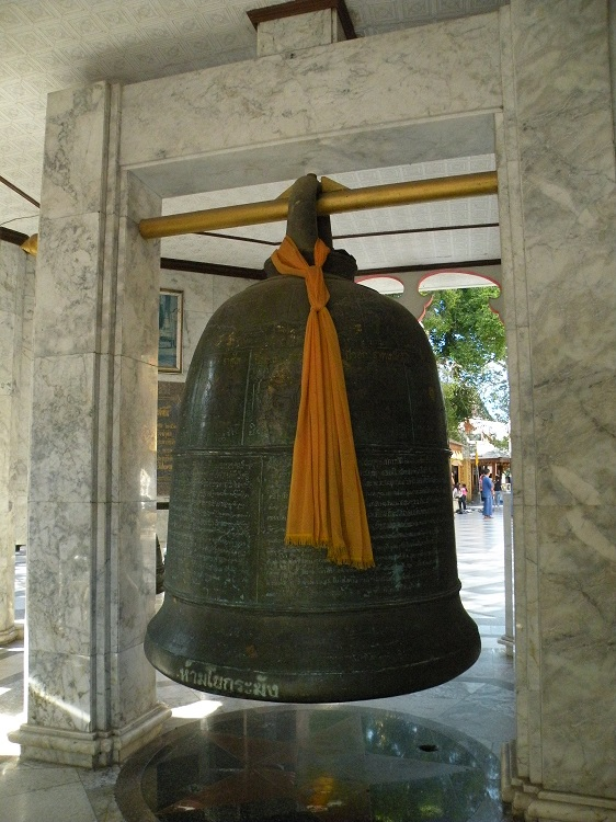 Buddhist Bell at Pagoda in Thailand