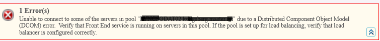 DCOM error when moving Lync users between pools.