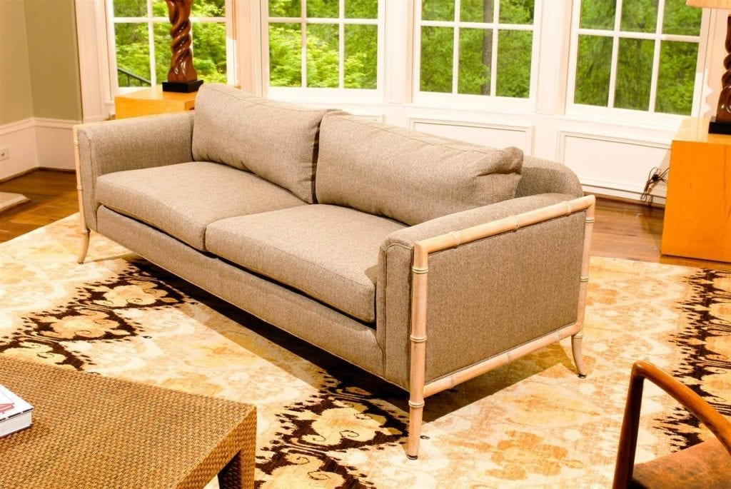 The all weather furniture offer. Fabulous Vintage Saber Leg Faux Bamboo Sofa ...