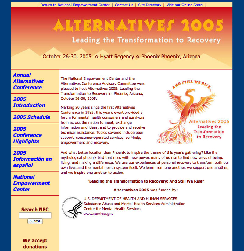 Alternatives 2005