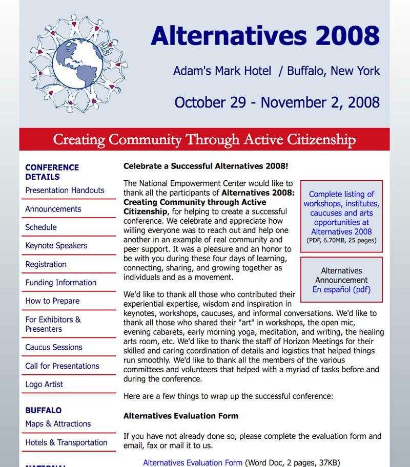 Alternatives 2008